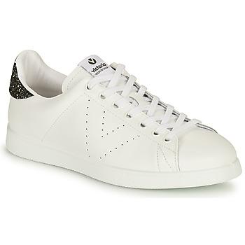 Chaussures Femme Baskets basses Victoria TENIS PIEL Blanc / Argenté