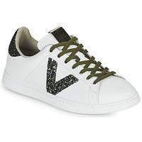 Chaussures Femme Baskets basses Victoria TENIS PIEL Blanc / Noir