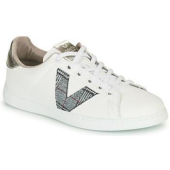 Chaussures Femme Baskets basses Victoria TENIS PIEL VEGANA Blanc / Gris