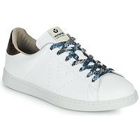 Chaussures Femme Baskets basses Victoria TENIS VEGANO SERPIENTE Blanc / Bronze