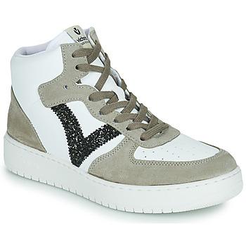 Chaussures Femme Baskets basses Victoria SIEMPRE BOTIN SERRAJE Blanc / Kaki