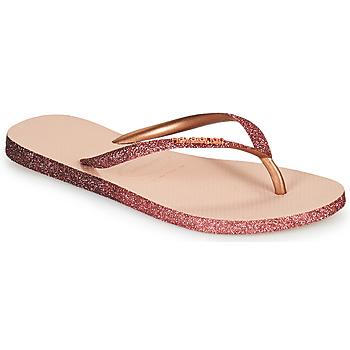Chaussures Femme Tongs Havaianas SLIM SPARKLE II Rose