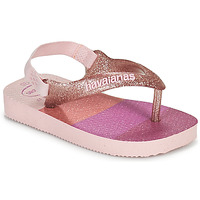 Chaussures Fille Tongs Havaianas BABY PALETTE GLOW Rose