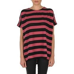 Vêtements Femme T-shirts manches courtes Vero Moda CHELLA 2/4 LONG TOP KM Noir / Rose