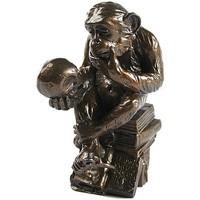 Maison & Déco Statuettes et figurines Muzeum Figurine reproduction Le Singe savant de Rheinhold Marron