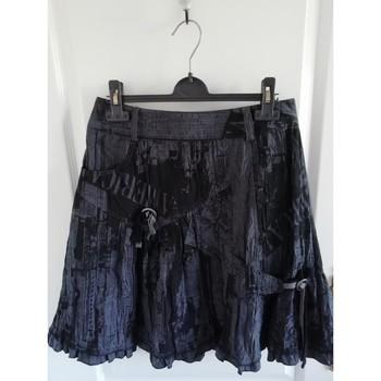Vêtements Femme Jupes Sans marque Jupe imprimée froissée Noir