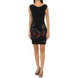 Vêtements Femme Robes courtes Desigual Robe à manches courtes Noir