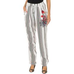 Vêtements Femme Chinos / Carrots Desigual Pantalon long Multicolore