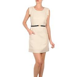 Vêtements Femme Robes courtes Vero Moda STITCH SL SHORT DRESS KM Beige