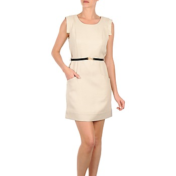 Vêtements Femme Robes courtes Vero Moda STITCH SL SHORT DRESS KM Beige