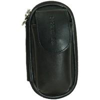 Sacs Pochettes / Sacoches Cerruti 1881 Pochette pour portable en cuir ref 26810 noir Noir
