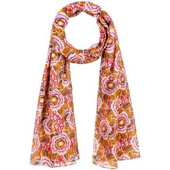Accessoires textile Femme Echarpes / Etoles / Foulards Allée Du Foulard Chèche Naflora Orange