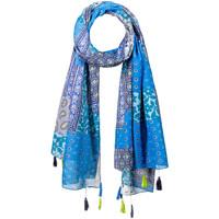 Accessoires textile Femme Echarpes / Etoles / Foulards Allée Du Foulard Foulard fantaisie Enigma Bleu
