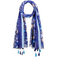 Accessoires textile Femme Echarpes / Etoles / Foulards Allée Du Foulard Foulard fantaisie Peace Bleu
