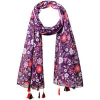 Accessoires textile Femme Echarpes / Etoles / Foulards Allée Du Foulard Foulard fantaisie Peace Violet