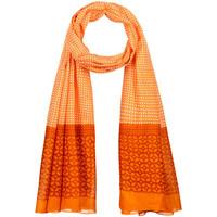 Accessoires textile Femme Echarpes / Etoles / Foulards Allée Du Foulard Chèche Ojo Orange