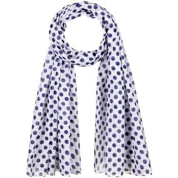 Accessoires textile Femme Echarpes / Etoles / Foulards Allée Du Foulard Chèche Polka Blanc