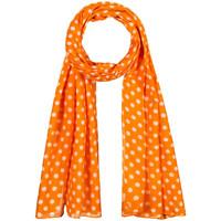 Accessoires textile Femme Echarpes / Etoles / Foulards Allée Du Foulard Chèche Polka Orange