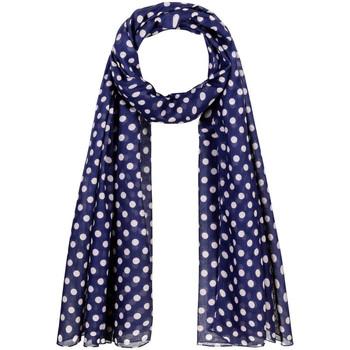 Accessoires textile Femme Echarpes / Etoles / Foulards Allée Du Foulard Chèche Polka Bleu-Marine