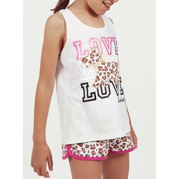 Vêtements Fille Pyjamas / Chemises de nuit Admas Pyjama fille short débardeur LouLou Jungle beige Beige