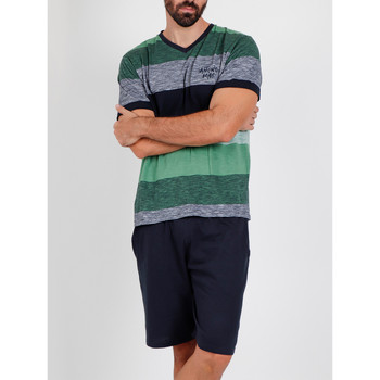 Vêtements Homme Pyjamas / Chemises de nuit Admas For Men Pyjama short t-shirt Scratch Antonio Miro vert Admas Vert
