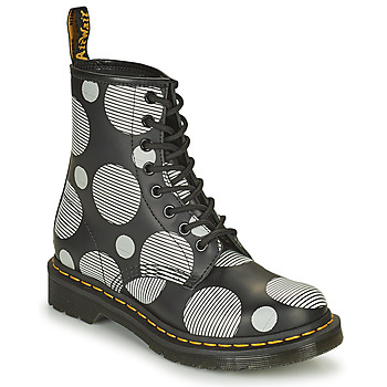 Chaussures Femme Boots Dr Martens 1460 Blanc / Gris