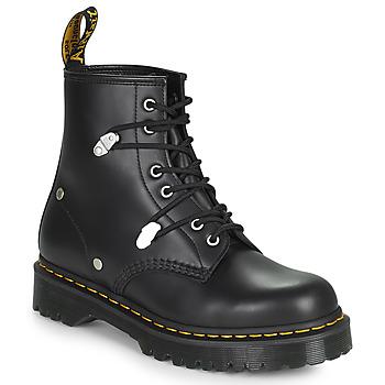 Chaussures Femme Boots Dr Martens 1460 BEX STUD Noir