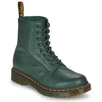 Chaussures Femme Boots Dr Martens 1460 PASCAL Vert