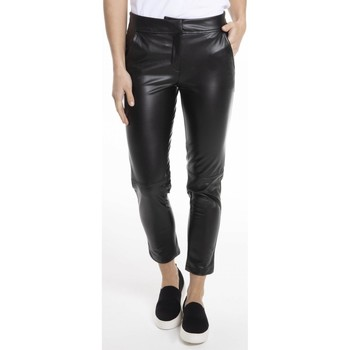 Vêtements Femme Chinos / Carrots Gerard Pasquier Pantalon slim 7/8ème PATRICIA Noir