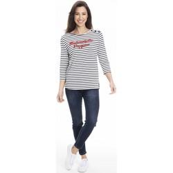 Vêtements Femme T-shirts manches longues Gerard Pasquier T-shirt confort TRACY Blanc
