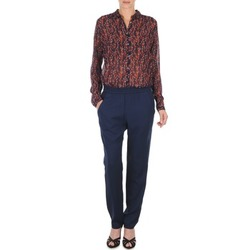 Vêtements Femme Pantalons fluides / Sarouels Marc O'Polo ALBA Bleu foncé / Rouge