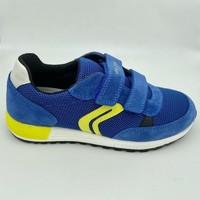Chaussures Garçon Baskets mode Geox ALBEN BASKET Bleu
