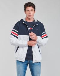 Vêtements Homme Blousons Tommy Jeans TJM COLORBLOCK ZIPTHRU Bleu / Blanc / Rouge
