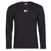 Vêtements Homme T-shirts manches longues Tommy Jeans TJM LS TOMMY BADGE TEE Noir