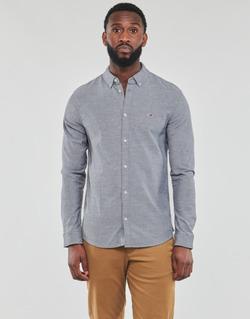 Vêtements Homme Chemises manches longues Tommy Jeans TJM STRETCH OXFORD SHIRT Noir