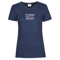Vêtements Femme T-shirts manches courtes Tommy Jeans TJW SKINNY ESSENTIAL TOMMY T SS Marine