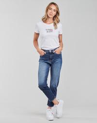 Vêtements Femme Jeans droit Tommy Jeans IZZIE HR SLIM ANKLE AE632 MBC Marine