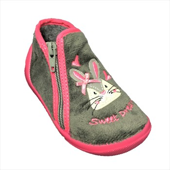 Chaussures Fille Chaussons Bopy ABUNNY Gris