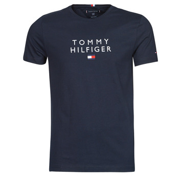 Vêtements Homme T-shirts manches courtes Tommy Hilfiger STACKED TOMMY FLAG TEE Marine