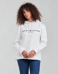 Vêtements Femme Sweats Tommy Hilfiger HERITAGE HILFIGER HOODIE LS Blanc