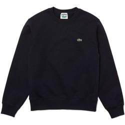 Vêtements Homme Sweats Lacoste Sweatshirt unisexe  col rond en coton bio bleu Bleu