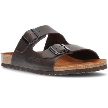Chaussures Homme Mules Interbios SANDALE CONFORTABLE  9560 MOKA