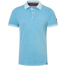 Vêtements Homme Coton Du Monde Timezone Polo  ref 52346 bleu clair Bleu