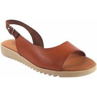 Chaussures Femme Sandales et Nu-pieds Eva Frutos 1205 cuir Marron
