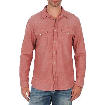 Chemises Selected Doha shirt ls r J Rouge 350x350
