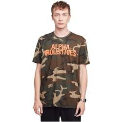 Vêtements Homme T-shirts manches courtes Alpha Blurred Beige, Marron