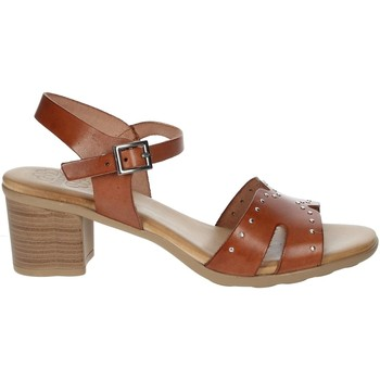 Chaussures Femme Sandales et Nu-pieds Porronet FI2626 Marron cuir