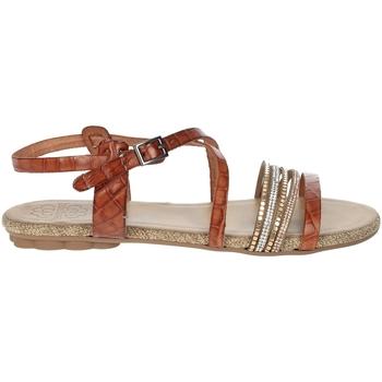 Chaussures Femme Sandales et Nu-pieds Porronet FI2616 Marron cuir