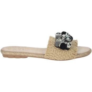 Chaussures Femme Mules Porronet FI2608 Beige/Noir