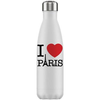 Maison & Déco Bouteilles Paris Bouteille I love  isotherme en inox Blanc